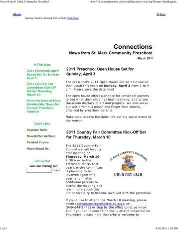 March 2011 - st. mark community preschool