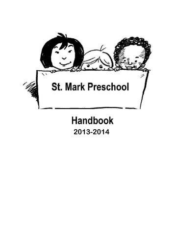 Preschool Handbook - St. Mark Evangelical Lutheran Church