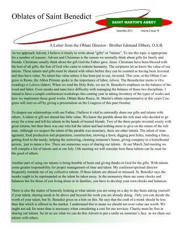 December 2013, Vol. 2, Issue 18 - Saint Martin's University
