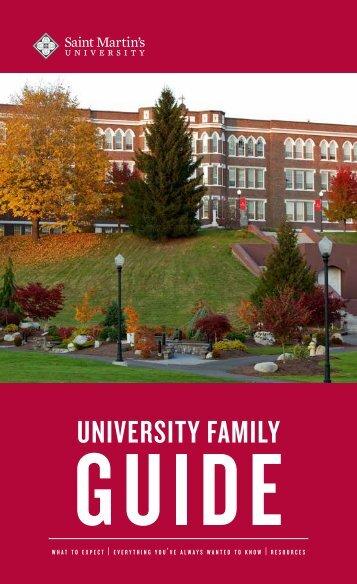 Parent handbook - Saint Martin's University
