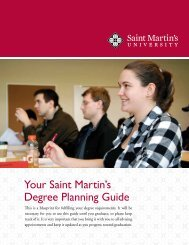 Your Saint Martin's Degree Planning Guide - Saint Martin's University
