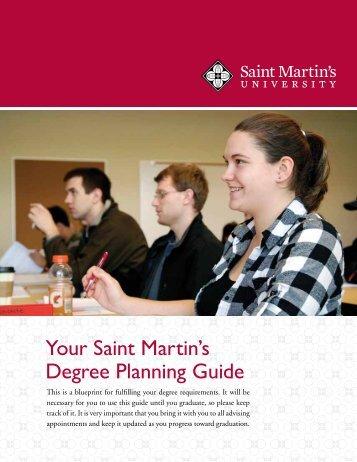Your Saint Martin's Degree Planning Guide - Saint Martin's University