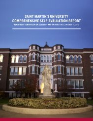 Comprehensive Self-Evaluation Report - Saint Martin's University