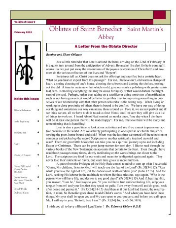February 2012, Vol. 2, Issue 9 - Saint Martin's University