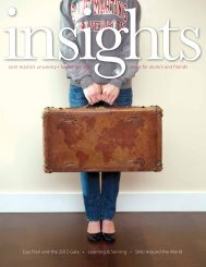 Insights Fall/Winter 2012 - Saint Martin's University