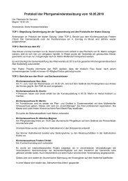 Protokoll der Pfarrgemeinderatssitzung vom 18.05.2010