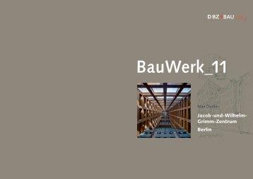 Jacob-und-Wilhelm- Grimm-Zentrum Berlin - DBZ+BAUcolleg