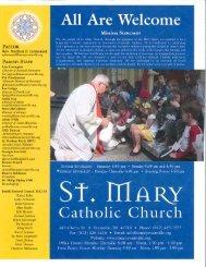 April 28, 2013 - St. Mary Catholic Church