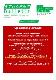 Whole School Upcoming events - St Marylebone School