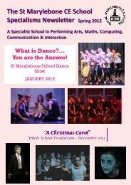 Spring 2012 Specialisms Newsletter - St Marylebone School