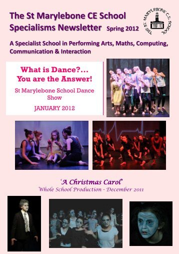 Spring 2012 Specialisms Newsletter - St Marylebone School