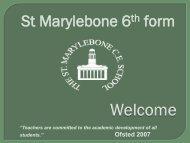 St Marylebone 6th form - St Marylebone School