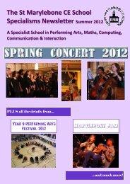Summer 2012 Newsletter - St. Marylebone CE School