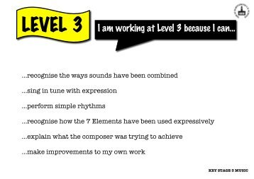 to view the Key Stage 3 Music Level Descriptors - St Marylebone ...