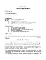 Saint Theodore of Shoteb References - St. Marys Coptic Orthodox ...