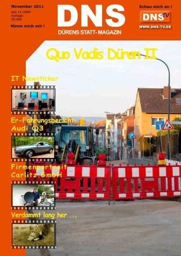 14.00 Uhr Sonntag 13.11.2011 1. BC Düren - DNS-TV