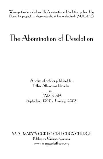 The Abomination of Desolation - St. Marys Coptic Orthodox Church