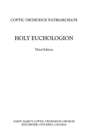HOLY EUCHOLOGION - St. Marys Coptic Orthodox Church