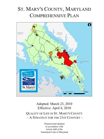 Comprehensive Plan - St. Marys County