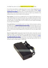 Few Simple Tips on How to Use Your Toshiba PA3715E-1AC3 AC Adapter Wisely.pdf