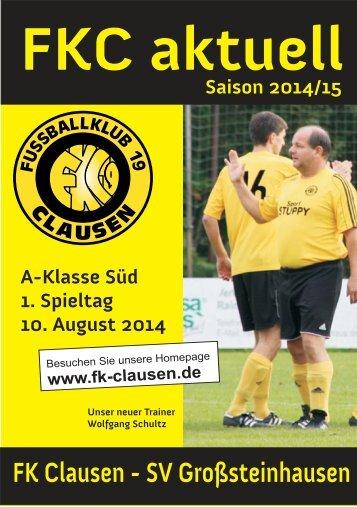FKC Aktuell - 02. Spieltag - Saison 2014/2015