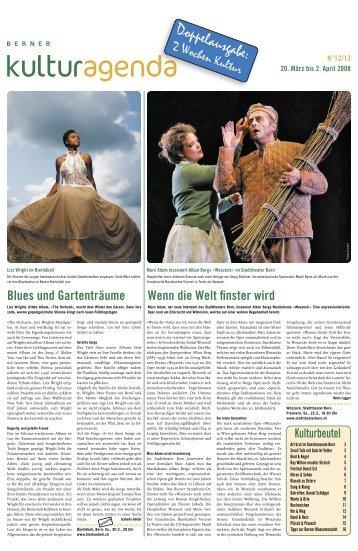 Berner Kulturagenda 2008 N°12