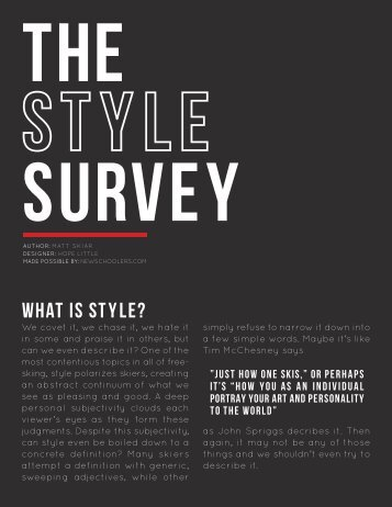The Style Survey