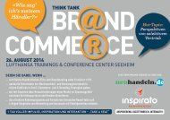 Think Tank BRAND COMMERCE 2014