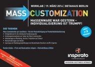 Worklab MASS CUSTOMIZATION 2014