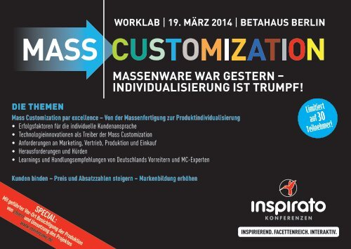 Worklab MASS CUSTOMIZATION 2014