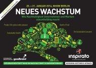 Konferenz NEUES WACHSTUM 2014