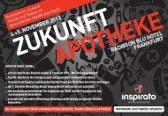 Konferenz ZUKUNFT APOTHEKE 2013