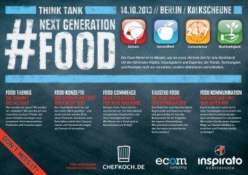 Think Tank NEXT GENERATION FOOD 2013