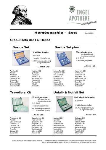 Homöopathie – Sets Stand 5-2008 - Engel Apotheke Freiburg