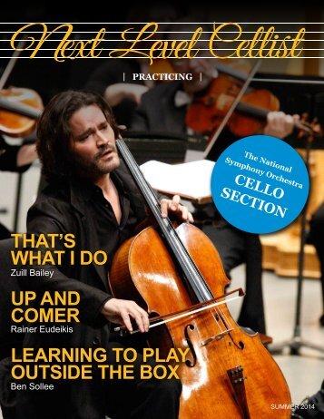 Next Level Cellist Practicing Issue