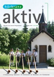 Hörbranz aktiv - Juni 2008 - Alphornbläsertreffen