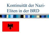 Kontinuität der Nazi- Eliten in der BRD