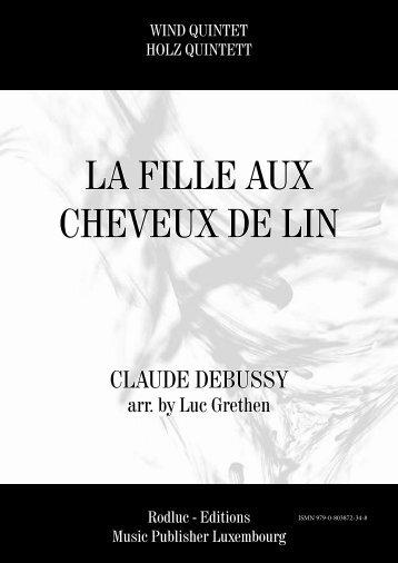 LA FILLE AUX CHEVEUX DE LIN - Claude Debussy