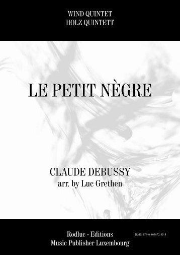 LE PETIT NÈGRE - CLAUDE DEBUSSY