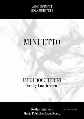 MINUETTO - LUIGI BOCCHERINI