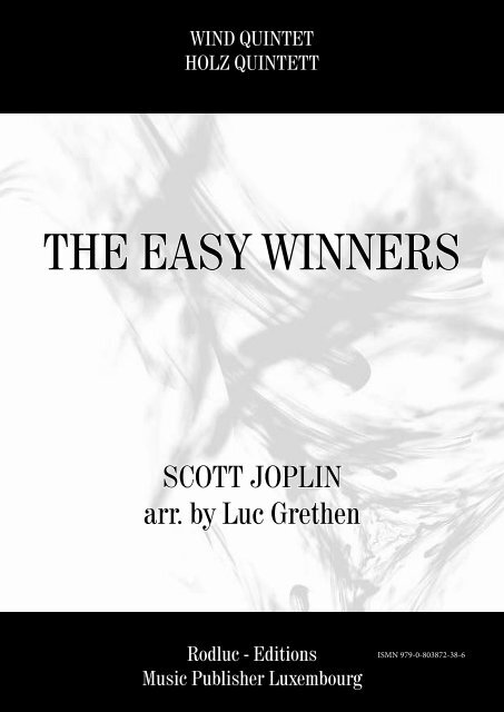 THE EASY WINNERS - SCOTT JOPLIN