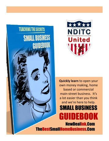 GUIDEBOOK Small Business Guidebook Secrets Ideas Plans by NDITC Consulting