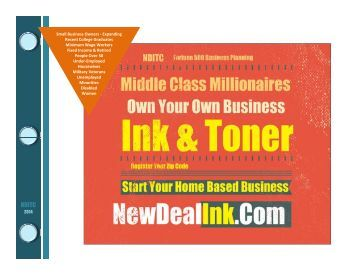 Starting Your Own Inkjet Toner Cartridge Business at Home means Millionaire Profits NDITC