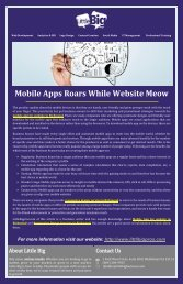 Mobile Apps Roars While Website Meow