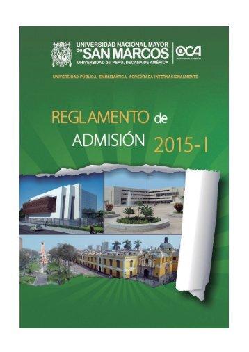 PROSPECTO SAN MARCOS 2015-I