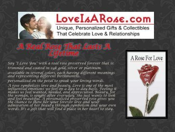 A Real Rose That Lasts A Lifetime