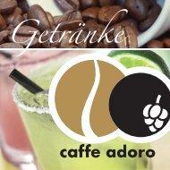 Getränkekarte caffe adoro Kirchheim/Teck