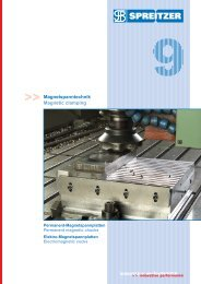 Magnetic clamping - Spreitzer, Gosheim
