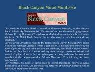 Black Canyon Motel Montrose