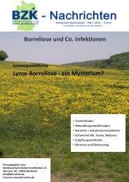Borreliose und Co. Infektionen Lyme-Borreliose - ein Mysterium?